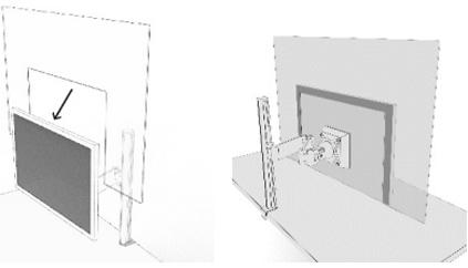 飛沫拡散防止モニター取付パネル
