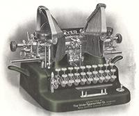 ▲当時のOLIVER社タイプライター